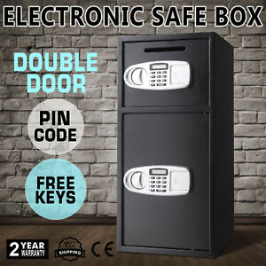 Black Large 33 Digital Electronic Safe Box Keypad Lock Security Home Office