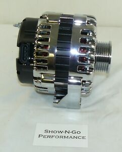 Chrome 220 Amp Ls1 F Body Or Truck Alternator 12v High Output Cs130d Style Gm