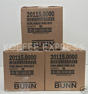 Bunn 12 cup Coffee Filters 3 Case 1000 Per Case 3000 Total 20115 0000