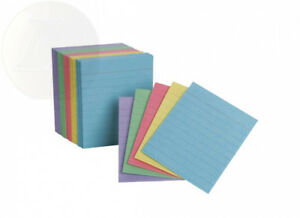 Oxford Half Size Index Cards Assorted Colors 3 X 2 5 Ruled 200 Per Pack