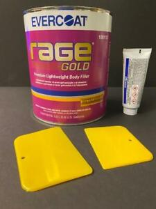 Evercoat Rage Gold 112 Premium Lightweight Body Filler Hardener Spreaders