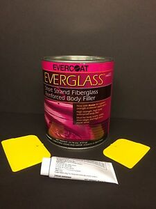 Evercoat Everglass Short Strand Fiberglass Body Filler Hardener Spreaders