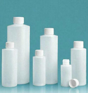 8 Oz 240 Ml Hdpe Plastic Bottles With Caps lot Of 100 You Choose Cap Style