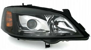 D2s Xenon Right Side Headlight For Opel Astra G In Black Finish