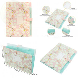 Skydue Floral Printed Accordion Document File Folder Expanding Letter New