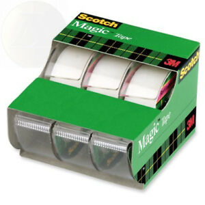 Scotch Magic Tape 3 4 X 300 Inches 5 Rolls 3105 New Free Shipping