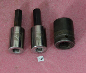 3 Armstrong Socket Lot1x Impact 6 Point 1 21 0322x Armstrong 5 8 Hex Bit
