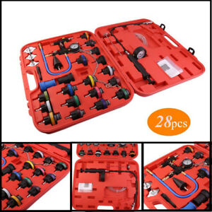 28pcs Master Cooling Radiator Pressure Tester With Vacuum Purge And Refill Kit