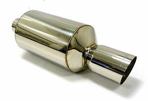Obx Universal Sv005a Muffler 2 5 Od Inlet May Fit Toyota Nissan Honda Acura