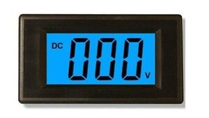 5pcs Blue Dc7 5 20v Lcd Digital Volt Panel Meter voltmeter New