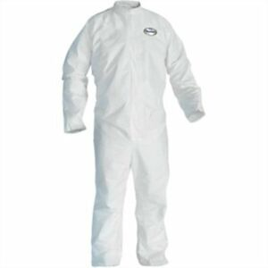 Box Of 24 Large Kimberly Clark 49103 A20 Coveralls W Elastic Back wrists ankles