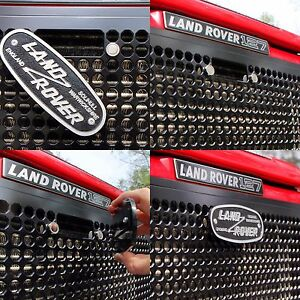 Land Rover Defender Front Grille W Latch Cutout Solid Milled Aluminum Metal
