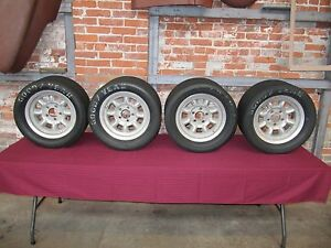 Original Uk Minilite Transam Wheels 14 X 7 Date Stamped 367 1967