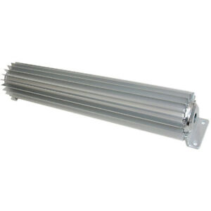 Dual Pass 12 Inch Long Finned Aluminum Transmission Cooler 1 4 Inch Npt Fitting