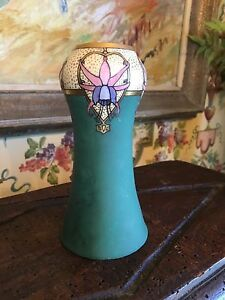 Art Nouveau Deco Hand Painted Vase Small Dated 1926 Signed