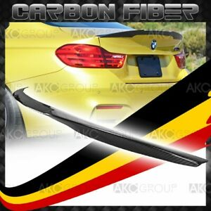 Carbon Fiber Rear Spoiler Wing Trunk For 14 17 Bmw M4 F82 V Performance Style