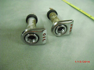 2 Vintage Dash Light Instrument Rat Rod Marine Aviation Panel Cluster 2 D 4
