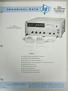 Hp Technical Data 740a Dc Standard Differential Voltmeter Revised 8 15 64