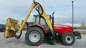 Massey Ferguson 5465 Tractor With 30 Alama Maverick Side Boom Cutter
