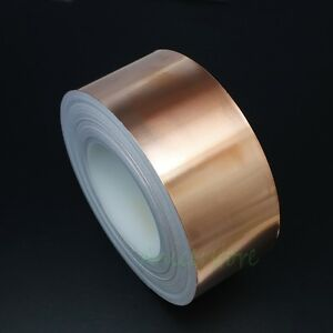 60mm X 50m 164 Feet Emi Shielding Single Conductive Adhesive Copper Foil Tape
