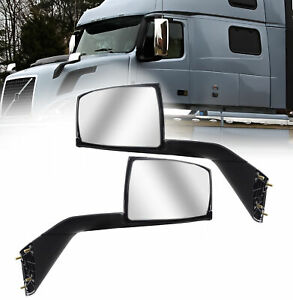 Volvo Vnl Chrome Hood Mirror 2004 2016 Pair Side With Nuts Mounting Plates