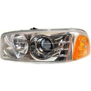 New Headlight Driver Side For Gmc Sierra 1500 Gm2502214 1999 To 2007