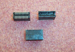 Qty 33 20 Position Smd Shrouded Stacking Header 1 27mm 104693 2 Tyco 1 Tube