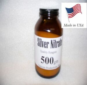 Silver Nitrate Made From 99 99 Silver Reagent 500 Grams Agno3 Cas 7761 88 8