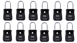 Pack Of 12 Lockbox Key Lock Box For Realtor Real Estate 3 Digit