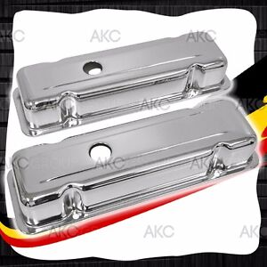 Chrome Finish Steel Valve Covers For 75 88 Buick 231 3 8l V6 No Air Conditioning