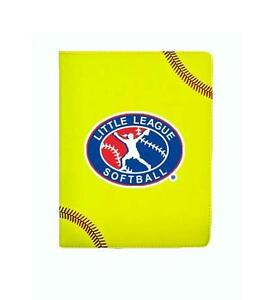Little League Softball Portfolio Office Planner Organizer Writing Pad Case Zumer