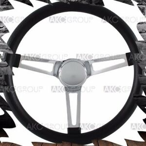 High Quality Classic Vintage Style Black Foam Grip Steering Wheel For Universal