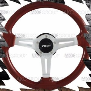 High Quality Mahogany Wood Classic Vintage Steering Wheel For Universal Fit