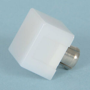 Dialight 304 1875 White Illuminated Pushbutton Cap 5 8 Square 35 Pcs