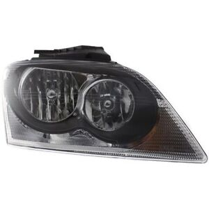 New Headlight Passenger Side For Chrysler Pacifica 2005 To 2006