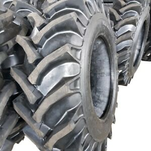 2 tires 15 5 38 12 Ply R1 Rear Farm Tractor Tires tubes 15 5x38