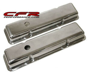 Smooth Polished Aluminum Short Valve Covers For Chevy Sb 283 305 327 350 400
