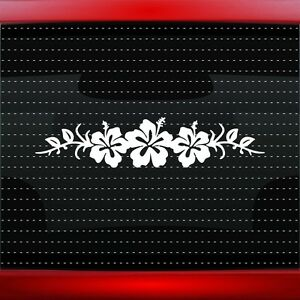 24 Hibiscus 8 Hawaiian Flower Cute Car Decal Window Sticker Aloha 20 Colors