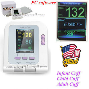 Digital Blood Pressure Monitor nibp adult child pediatric sw sphygmom