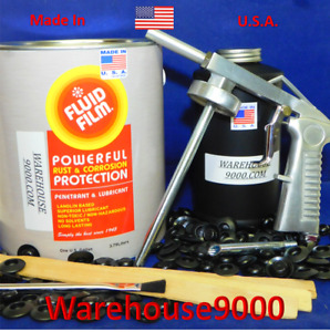 Gallon Fluid Film Undercoating With Standard Spray Gun Qt Bottle And 100 Plugs