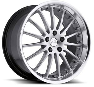 19x8 5 9 5 Coventry Whitley 5x120 65 20 Silver Rims Fits Jaguar Xj Xk8 Xkr