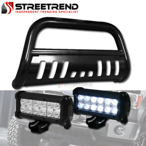 Blk Bull Bar Grill Grille Guard 36w Cree Led Driving Fog Light 05 Toyota Tacoma