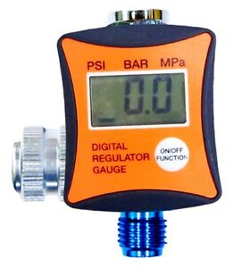 1 4 Digital Air Regulator W Pressure Gauge Hvlp Paint Spray Gun In Line Use