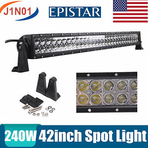 42inch 240w Led Work Light Car Spot 4wd Driving Offroad Suv Tractor Boat 40 44