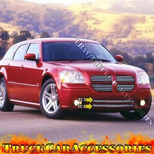 For Dodge Magnum 2005 2006 2007 Polished Lower Bumper Grille 2pc Replacements