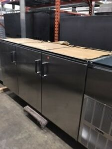 Perlick 3 section Back Bar Cooler Stainless Steel Self contained C5064escul