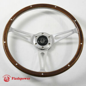 14 Classic Riveted Wooden Steering Wheel Restoration Mustang Shelby Ac Cobra