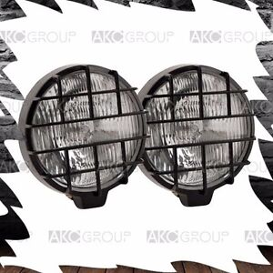 1 X Pair 5 5 Round Fog Light With Stone Lens Guard For Off Road Truck Jeep Suv