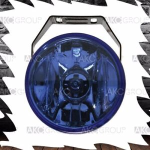 2 X Round Driving Fog Light Kit Blue Lens Simulated Hid For Off Road Truck Jeep