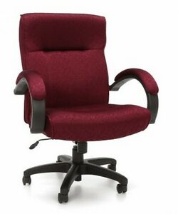 Ofm Stature Series Executive Mid back Conference Office Chair In Burgundy